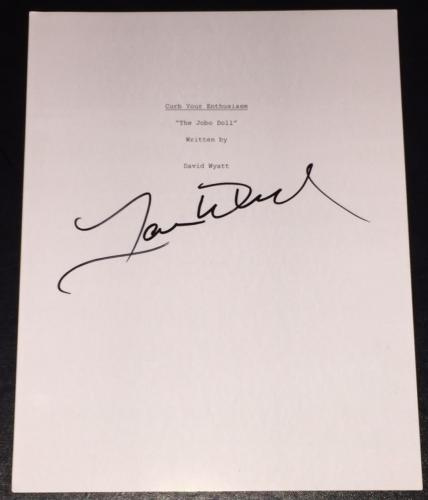 "Larry David Signed Autograph Curb ""the Jobo Doll"" Full Show Shooting Script"