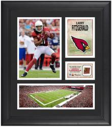 Larry Fitzgerald Arizona Cardinals Framed 15'' x 17'' Collage with Game-Used Football - Mounted Memories