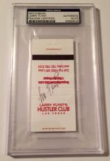 Larry Flynt Signed Hustler Casino Club Las Vegas Matchbook PSA/DNA Slabbed