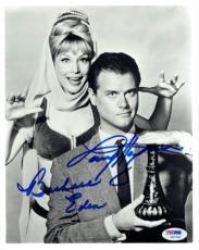 Larry Hagman/Barbara Eden Signed Jeannie Autographed 8x10 Photo PSA/DNA #V87769