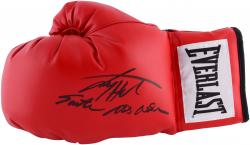 """Larry Holmes Autographed Boxing Glove Pair with """"Easton Assassin"""" Inscription"""