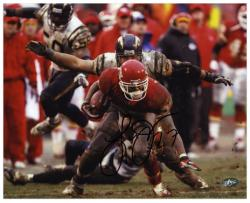 "Larry Johnson Kansas City Chiefs Autographed 8"" x 10"" vs San Diego Chargers Photograph"