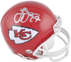 Larry Johnson Kansas City Chiefs Autographed Riddell Mini Helmet - Mounted Memories