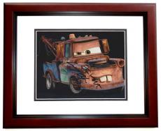 Larry the Cable Guy Signed - Autographed CARS 8x10 Photo with MATER Inscription MAHOGANY CUSTOM FRAME