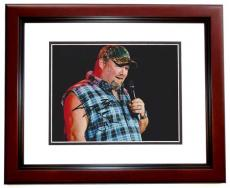 Larry the Cable Guy Signed - Autographed Comedian 8x10 Photo MAHOGANY CUSTOM FRAME