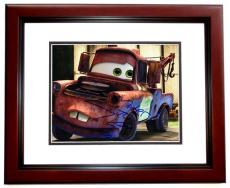 Larry the Cable Guy Signed - Autographed Disney CARS 8x10 Photo MAHOGANY CUSTOM FRAME with MATER Inscription