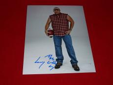 LARRY THE CABLE GUY cars comedian signed 8x10 COA 5