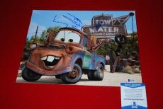 LARRY THE CABLE GUY cars tow mater git r done signed 11X14  beckett BAS 1