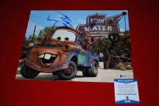 LARRY THE CABLE GUY cars tow mater git r done signed 11X14  beckett BAS 3