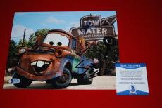 LARRY THE CABLE GUY cars tow mater git r done signed 8x10 beckett BAS 1