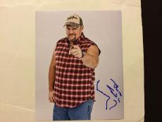 Larry The Cable Guy Hand Signed 8x10 Photo Autographed b