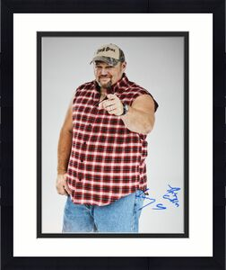 Larry the Cable Guy signed 11 x 14, Blue Collar Comedy, Git R Done, Proof, COA