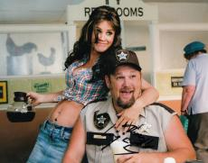 Larry the Cable Guy signed 8x10 photograph Daniel Whitney w/coa #LC1