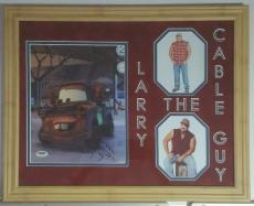 Larry The Cable Guy Tow Mater Autographed Signed 8x10 Framed 14x18 Cars PSA DNA