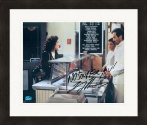Larry Thomas autographed 8x10 Photo The Soup Nazi (Seinfeld) Elaine Benes ordering #1 Matted & Framed