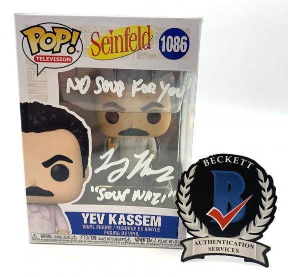 Larry Thomas Signed Autograph Funko Pop Seinfeld Beckett Bas Soup Naizi 5
