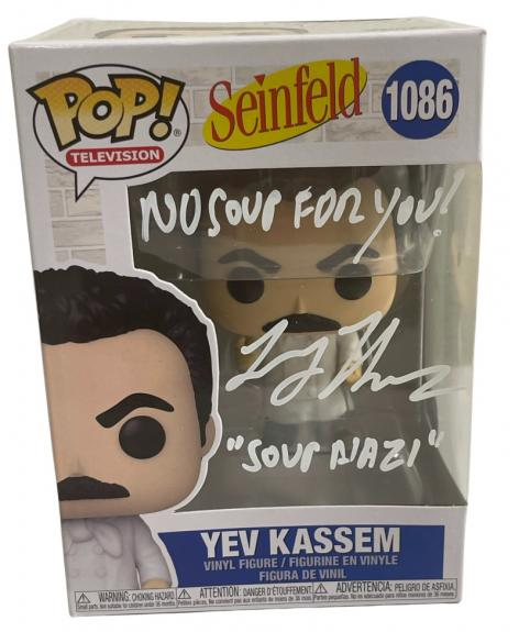 Larry Thomas Signed Funko Pop Figure Seinfeld The Soup Nazi Autograph Beckett F