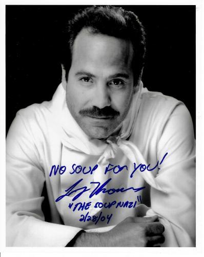 Larry Thomas Signed & Inscribed Soup Nazi Seinfeld 8x10 Photo #2