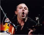 Lars Ulrich Signed - Autographed METALLICA Drummer Concert 8x10 inch Photo - Guaranteed to pass PSA or JSA