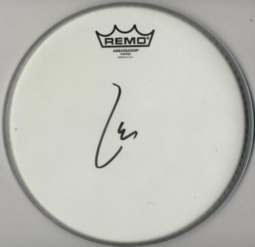Lars Ulrich Autographed Signed Remo Ambassador Drumhead AFTAL UACC RD COA