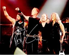 Lars Ulrich, Kirk Hammett, and Robert Trujillo Signed - Autographed METALLICA Drummer 11x14 inch Photo - Guaranteed to pass PSA or JSA