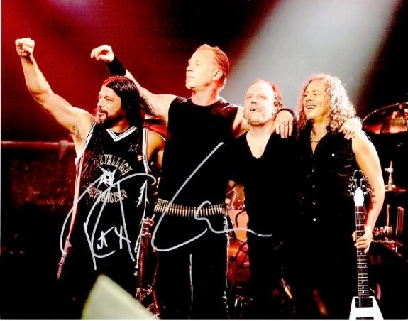 Lars Ulrich, Kirk Hammett, and Robert Trujillo Signed - Autographed METALLICA 11x14 inch Photo - Guaranteed to pass BAS