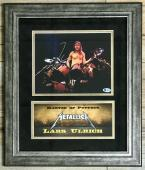 LARS ULRICH (Metallica) authentic signed 8x10 custom framed display Becketts