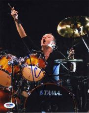 Lars Ulrich Metallica Autographed Signed 8x10 Photo Authentic PSA/DNA