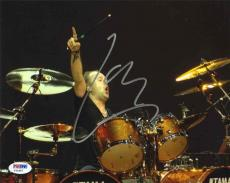 Lars Ulrich Metallica Autographed Signed 8x10 Photo Certified Authentic PSA/DNA