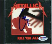 Lars Ulrich Metallica Kill 'Em All  Autographed Signed CD Authentic PSA/DNA COA