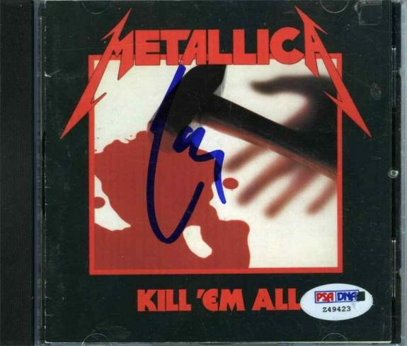 Lars Ulrich Metallica Kill 'Em All  Autographed Signed CD Authentic PSA/DNA COA