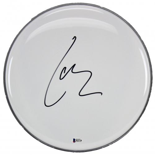 Lars Ulrich Metallica Signed 12 Inch Drum Head Autographed BAS #B23738