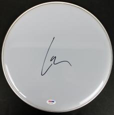 Lars Ulrich Metallica Signed 13 Inch Drumhead PSA/DNA #AC17142
