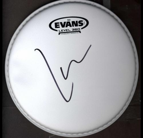 Lars Ulrich Metallica Signed G2 Coated Size 8 EVANS Drumhead UACC RD COA AFTAL