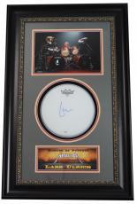 LARS ULRICH (Metallica) signed/custom framed drumhead display-PSA X70190