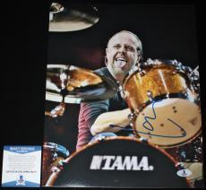 Lars Ulrich signed 11 x 14, Metallica, Ride the Lightning, Beckett BAS