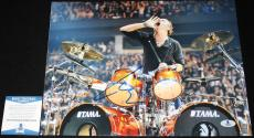 Lars Ulrich signed 11 x 14, Metallica, Ride the Lightning, Beckett BAS B05759