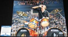 Lars Ulrich signed 11 x 14, Metallica, Ride the Lightning, Beckett BAS B05759