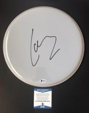 "Lars Ulrich Signed 12"" Drumhead Metallica Authentic Bas Beckett Coa #b23739"