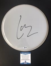 "Lars Ulrich Signed 12"" Drumhead Metallica Authentic Bas Beckett Coa #b62806"