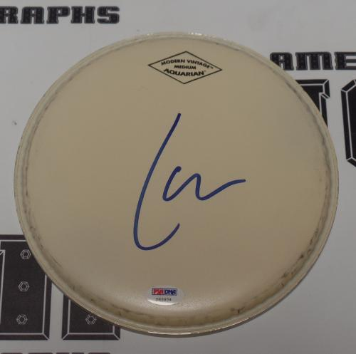 "Lars Ulrich Signed 9"" Drumhead PSA/DNA COA Metallica Load Reload Anger Autograph"
