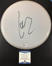 "Lars Ulrich Signed Authentic 12"" Drum Head Metallica Bas Beckett Coa #b23740"