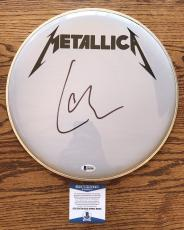 "Lars Ulrich Signed Authentic 12"" Drumhead Metallica Bas Beckett Coa #b62802"