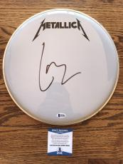 "Lars Ulrich Signed Authentic 12"" Drumhead Metallica Bas Beckett Coa #b62804"