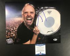 Lars Ulrich Signed Auto Metallica 'on Stage' 11x14 Photo Bas Coa Beckett