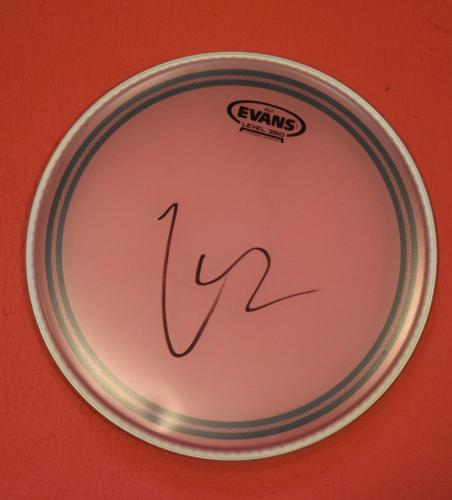 Lars Ulrich Signed Autographed Drumhead Metallica Drummer D