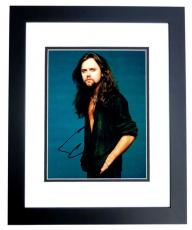 Lars Ulrich Signed - Autographed METALLICA Drummer 8x10 inch Photo BLACK CUSTOM FRAME - Guaranteed to pass PSA or JSA