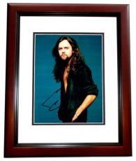Lars Ulrich Signed - Autographed METALLICA Drummer 8x10 inch Photo MAHOGANY CUSTOM FRAME - Guaranteed to pass PSA or JSA