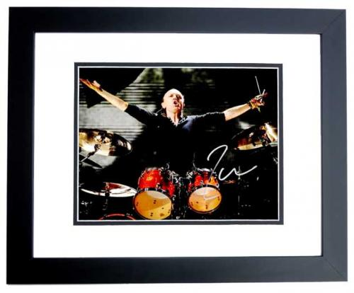 Lars Ulrich Signed - Autographed METALLICA Drummer Concert 11x14 inch Photo BLACK CUSTOM FRAME - Guaranteed to pass PSA or JSA