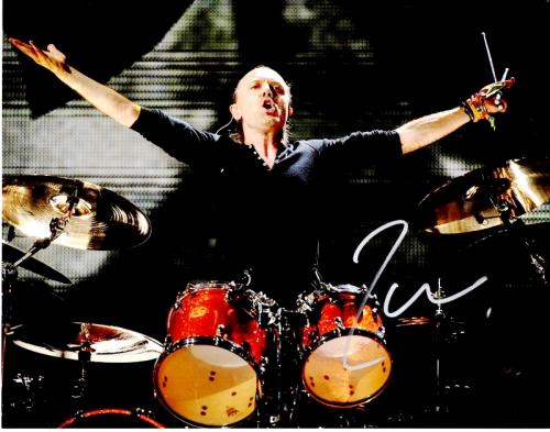 Lars Ulrich Signed - Autographed METALLICA Drummer Concert 11x14 inch Photo - Guaranteed to pass PSA or JSA